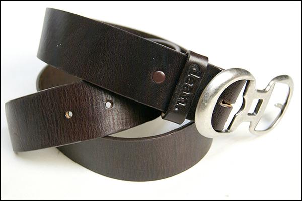 ★dean.レザーベルト 【double-buckle-belt】
