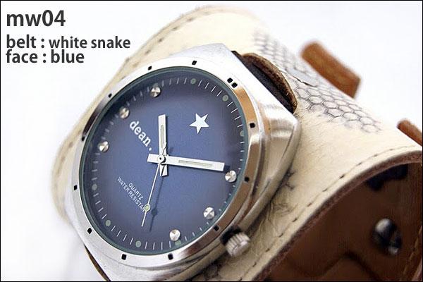★dean.腕時計【mw04】white snake