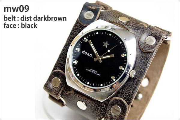 ★dean.腕時計【mw09 dist darkbrown】