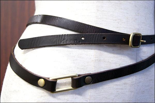 ★dean.のskinny double belt